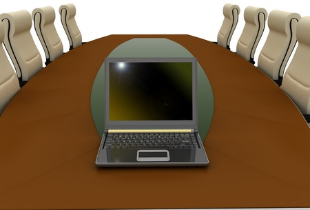 table for negotiations Stock Photo - 11946627