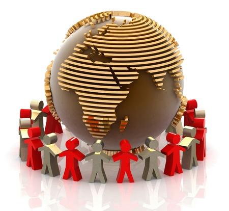 forum: World partnership. 3d image isolated on white background.