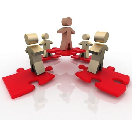 distinguish: Conceptual leadership concept Stock Photo
