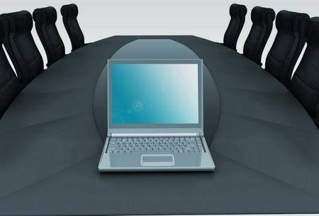 table for negotiations Stock Photo - 11946524