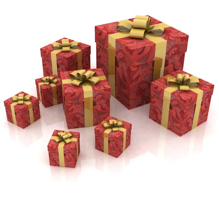 Beautiful gift boxes photo