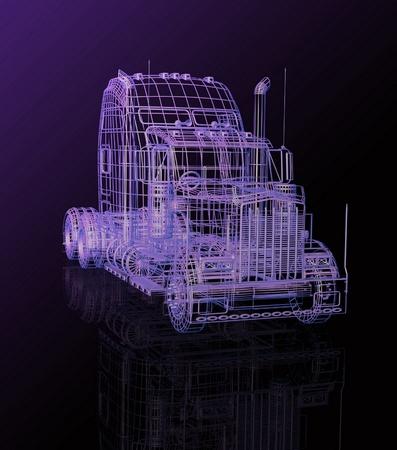 3d vrachtwagen