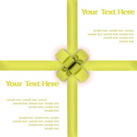 bestowal: Greeting card with a pink ribbon Stock Photo