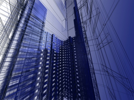 abstract modern architecture Stock Photo - 11950452