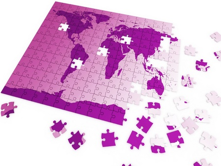 puzzle map of the world photo