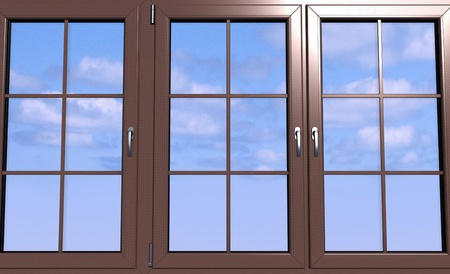 Sky seen through an wooden window Stock Photo - 11950005