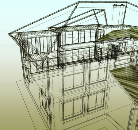 Project of new dwelling-house photo