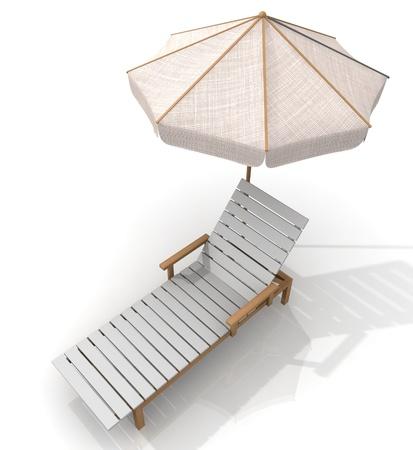 recliner: beach deck-chair