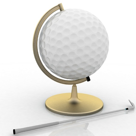 globe golf ball sign photo
