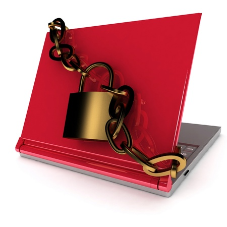 Notebook security Stock Photo - 11948627