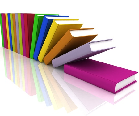 formation: books isolated on background white Stock Photo