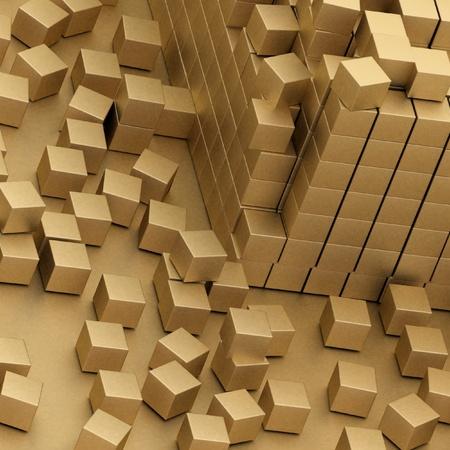 damaged assembling of gold blocks Stock Photo - 11949948