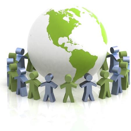 international internet: World partnership. 3d image isolated on white background.