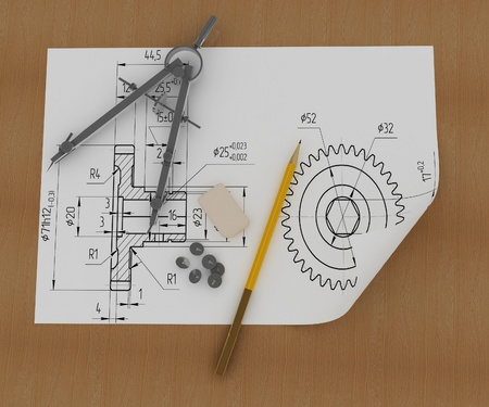 compasses: Band, pencil and compasses