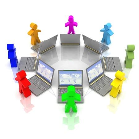 community service: online training concept