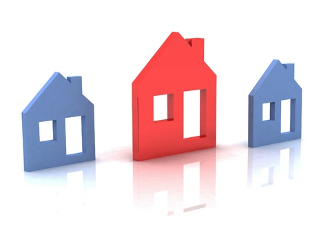 3d model house symbol set photo
