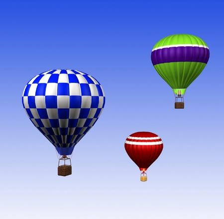 buoyant: hot air balloons
