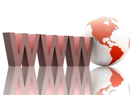 world wide web: Internet concept