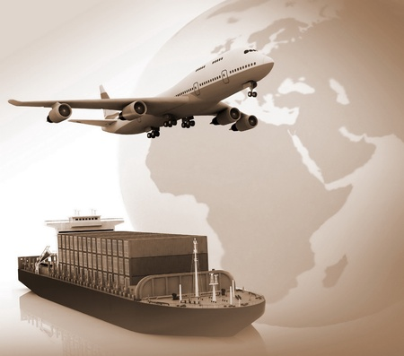 air freight:  types of transport of transporting are loads.
