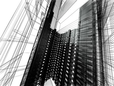 astratto architettura moderna