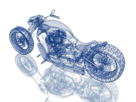 Motorfiets straatvechter Stockfoto