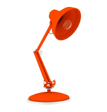 ergonomic: 3d table lamp isolated on white