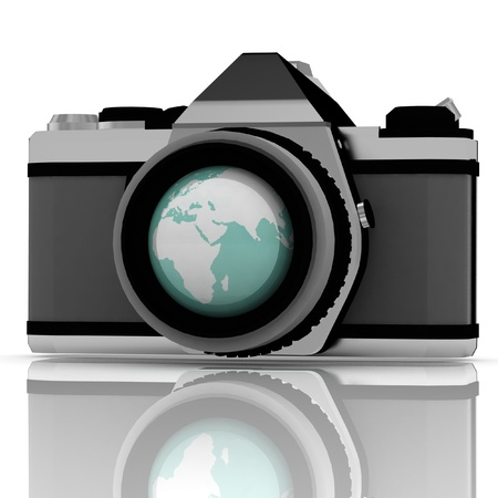 expel: Zoom the World Stock Photo
