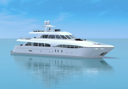 White pleasure yacht photo