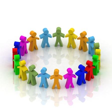 community group: Las personas 3d en el c�rculo