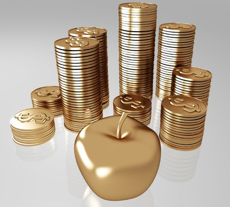 golden apples and coins Stock Photo - 12051279