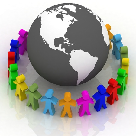 Global communication concept Stock Photo - 12050893