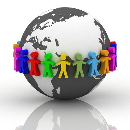 individual: desire of cooperation Stock Photo