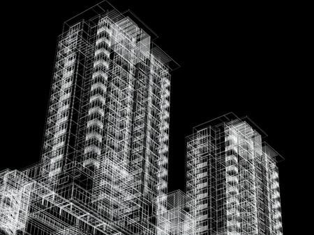 architecture plans: modern building