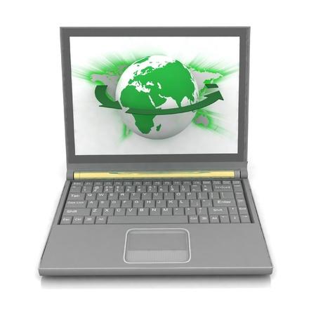 Laptops on white background photo