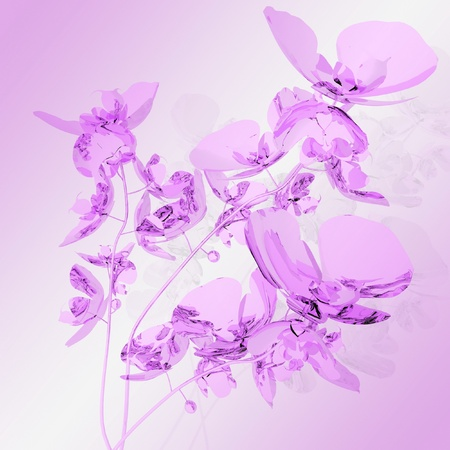 bouquet of pink orchids photo
