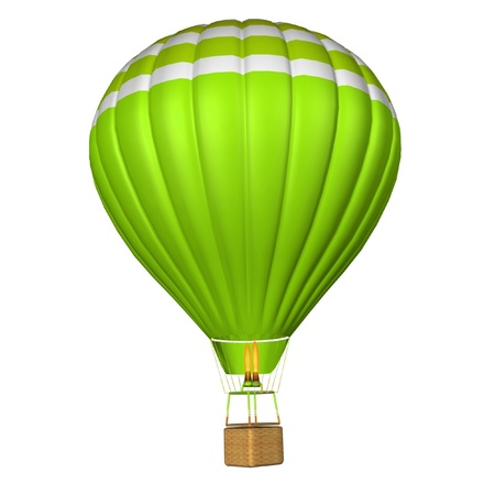 aeronautical: hot air balloon isolated on a white background