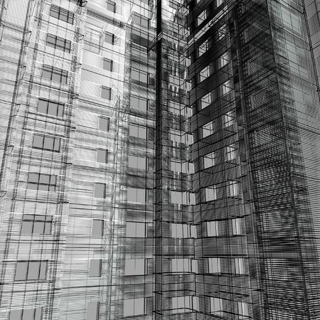 documentation: Abstract architecture Stock Photo