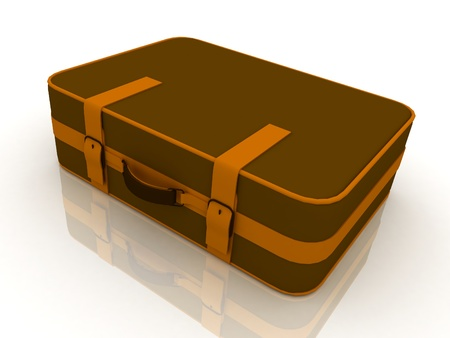Suitcas isolated on white background photo