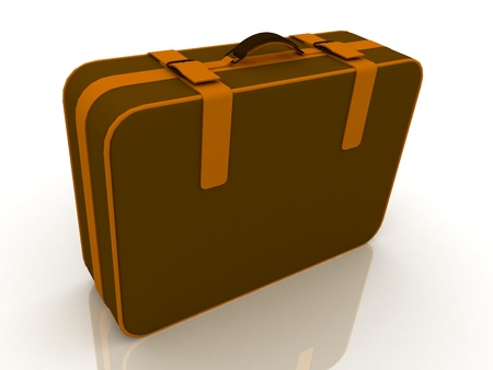 Suitcas� isolated on white background photo