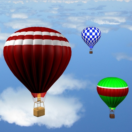 aerostat: hot air balloons