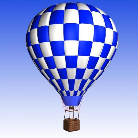 hot air balloon isolated  photo