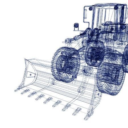 earth moving equipment: 3d model bulldozer
