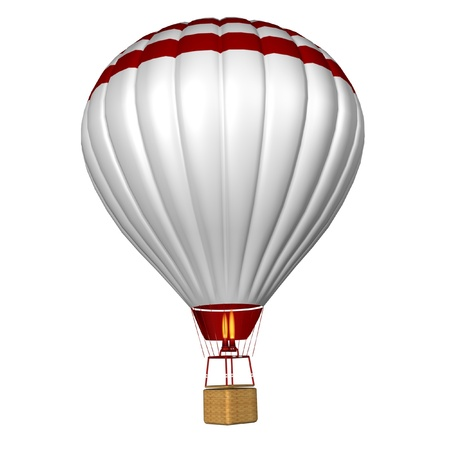 aerostat: hot air balloon isolated on a white background