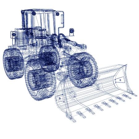 3d model bulldozer Stock Photo - 12051411