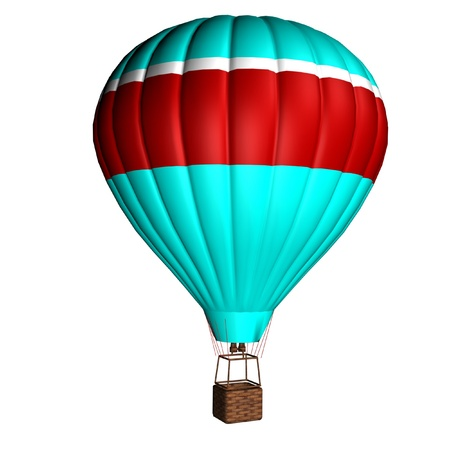hot air balloon isolated on a white background Stock Photo - 12050401