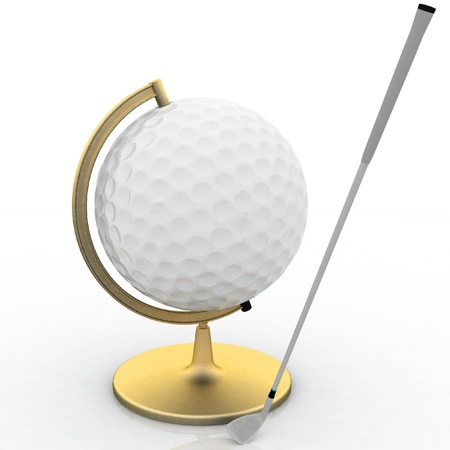 globe golf ball sign Stock Photo - 12050464