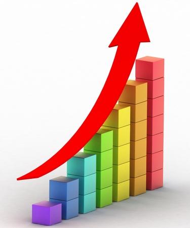 verhogen: eenvoudige zakelijke grafiek
