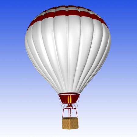 buoyant: hot air balloon isolated Stock Photo
