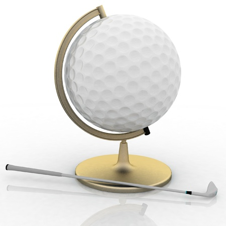 globe golf ball sign Stock Photo - 12050578