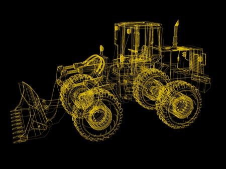 3d model bulldozer Stock Photo - 12051291